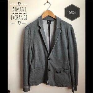 ❤️Armani Exchange Gray Sweatshirt Blazer❤️